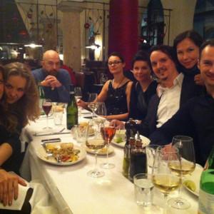 After party | Onegin, Bayerische Staatsoper, München 01/2014 | Kristine Opolais, Ekaterina Sergeeva, Rafał Siwek, Magdalena Siwek, Aleksandra Rucińska, Larissa Diadkova, Edgaras Montvidas