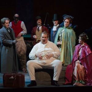 Falstaff, Opéra Bastille, Paris 02/2013 | Ambrogio Maestri (Falstaff), Gaëlle Arquez (Meg Page), Svetla Vassileva (Alice Ford), Nicole Lemieux (Mrs. Quickly)