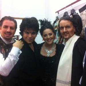 La Traviata, Arena di Verona, 07/2013 | Matthew Polenzani (Alfredo), Maestro Andrea Battistoni, Maria Agresta (Violetta)