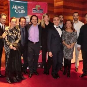 After party, La Traviata, Bilbao (ABAO), 11/2012 | Ermonela Jaho (Violetta), José Bros (Alfredo), Maestra Keri-Lynn Wilson