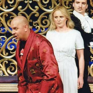 Iwona księżniczka Burgunda, Teatr Wielki - Opera Narodowa Warszawa, 02/2007 | Dariusz Machej (Król Ignacy), Kinga Preis (Iwona)