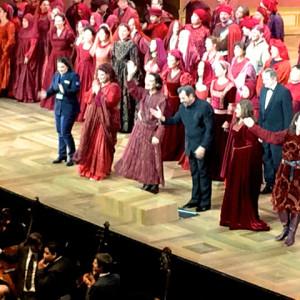 Il Trovatore, Salzburger Festspiele 18/08/2014 | Diana Haller (Inez), Marie Nicole Lemieux (Azucena), Maestro Daniele Gatti, Anna Netrebko (Leonora), Francesceo Meli (Manrico), Riccardo Zanelleato (Ferrando)