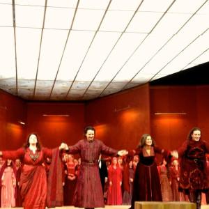 Il Trovatore, Salzburger Festspiele 18/08/2014 | Marie Nicole Lemieux (Azucena), Anna Netrebko (Leonora), Francesco Meli (Manrico)